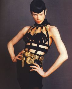 1992 bondage collection by Gianni Versace