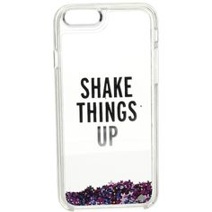 Kate Spade New York Shake Things Up Liquid Glitter Phone Case for... ($50) ❤ liked on Polyvore featuring accessories, tech accessories and kate spade