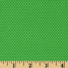 KELLY GREEN Mini Dot Pin Dot Polka Dots by TreasureBayFabric, $6.99