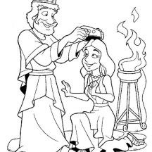 esther become king ahasuerus queen coloring page