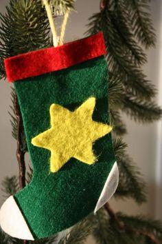 Chaussette de Noël en Feutrine - Activité manuelle et bricolage pour enfant