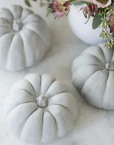 DIY Concrete Pumpkin Decorations We made these DIY concrete pumpkins from silicone molds and a really cool, crafty concrete mixture! Great for Fall home decor, Halloween and Thanksgiving and you can reuse them every year! Halloween Home Decor, Fall Home Decor, Diy Home Decor, Spooky Halloween, Halloween Decorations, Halloween Party, Concrete Crafts, Concrete Projects, Concrete Art