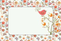 Imprimibles de jardín vintage con pajaritos. | Ideas y material gratis para fiestas y celebraciones Oh My Fiesta!
