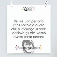 Fabrizio De André è stato uno dei più importanti #cantautori della musica…