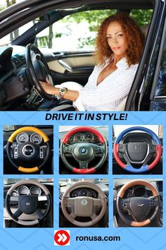 Check out our huge selection of custom made steering wheel covers available in many different colors.