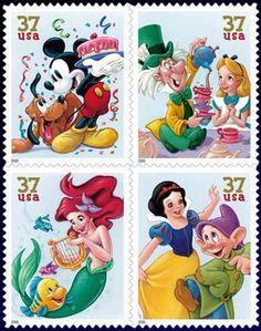 Art of Animation:  Celebration Disney US Postage Stamps
