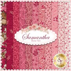 Samantha 11 FQ Set - Rose Set by Carrie Quinn for Penny Rose Fabrics: Samantha is a beautiful floral collection by Carrie Quinn for Penny Rose Fabrics. 100% cotton. This set contains 11 fat quarters, each measuring approximately 18