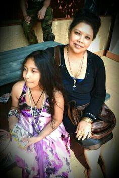 Jahruneel Rai with her mum SharatazRai