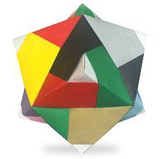 折り紙・らいん24面体