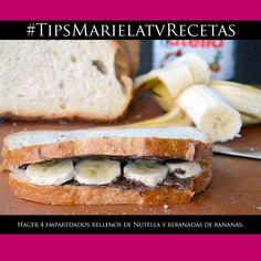 Tostada francesa de Nutella y banana, ¡QUÉ DELICIA! – Mariela Viteri   Revista Mariela, Radio Fuego y MarielaTV