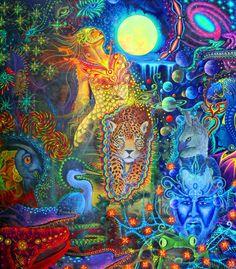 The official website of visionary artist Alex Grey. Alex Grey, Alex Gray Art, Sacred Geometry Tattoo, Spirited Art, Hippie Art, Visionary Art, Fantastic Art, Amazing, Sacred Art