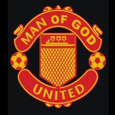 Christian sports parody t-shirt design for United fans. www.kjvapparel.com.