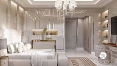 Bedroom interior design in Dubai bedroom design spazio Blue Master Bedroom, Master Bedroom Interior, Luxury Bedroom Design, Luxury Interior Design, Home Decor Bedroom, Modern Bedroom, Bedroom Ideas, Bedroom Classic, Suites
