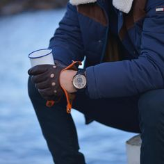 21 days to go: Enjoying a coffee half way through the Kickstarter campaign. This is the P-51-03. - Shop now for recwatches > http://ift.tt/1Ja6lvu