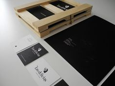 Menu design housed in recycled wood pallets
