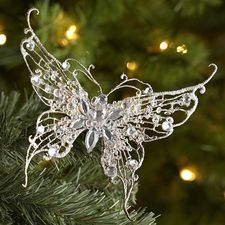 Lace Butterfly Clip Ornament