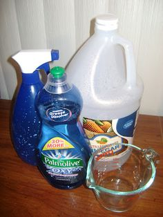 Wash Those Windows - DIY window cleaner - 1cup water, 1/4 cup white vinegar, 2 - 3 drops Dawn Dish Soap