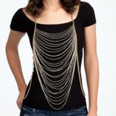 BeBe Multi Strand Body Chain BeBe Multi Strand Body Chain bebe Jewelry