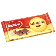Chocolate bar with schweizer nuts. Made by Marabou.