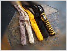 Crochet ego  ecig  electronic cigarette vaporizer  holder necklace SET OF TWO via Etsy