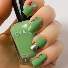 manicurator: Digit-al Dozen Tape Week Nail Art Triangles with Zoya