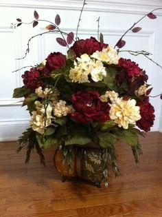 Roses & Hydrangeas Silk