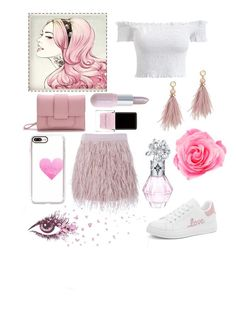 """Turn the world Pink! 💕"" by peacock-style on Polyvore featuring Casetify, SuperTrash, WithChic, Winky Lux, Context, Lizzie Fortunato and Pink"