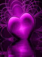 Heart Art in Neon Purple/Pink Purple Love, All Things Purple, Shades Of Purple, Purple And Black, Pink Purple, Purple Hearts, Purple Stuff, Heart Wallpaper, Love Wallpaper