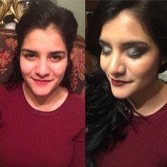 Antes y despues Maquillaje express 💕