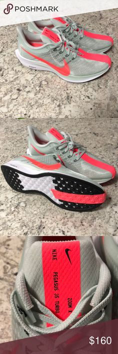 4beb55aa506dd Shop Men s Nike Gray size Athletic Shoes at a discounted price at Poshmark.  Description  Brand new never been worn New Nike Zoom X Pegasus 35 Turbo  Running ...