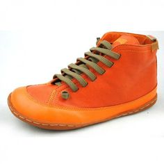 Womens Hi-Top Camper Boots Orange