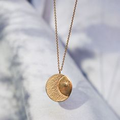 Necklace The tumbler (gold plated) | Tiroir de Lou Gold Plated Necklace, Gold Necklace, Felt Pouch, Tumbler, Silver Plate, Plating, Handmade Jewelry, Gems, Jewels