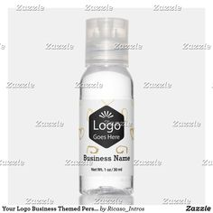 Your Logo Business Themed Personalized Hand Saniti Hand Sanitizer Business Products, Travel Size Products, Scented Hand Sanitizer, Travel Size Bottles, Hand Hygiene, Business Branding, Active Ingredient, Aqua, Alcohol