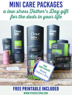 Looking for a low stress Father's Day gift idea for all the dads you know? Check out these mini care packages! #MySuperDadStory AD