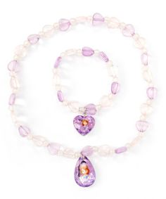 Look what I found on #zulily! Pink Sofia the First Beaded Necklace & Bracelet by Sofia the First #zulilyfinds