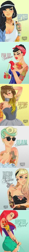 Princesses as hipsters.