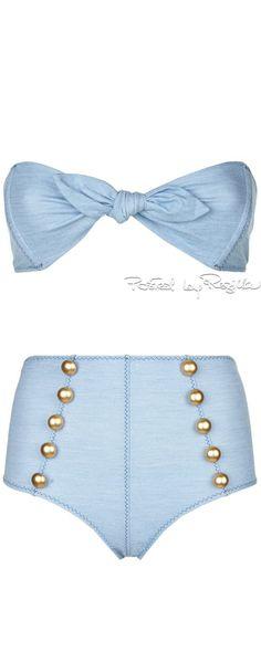 Regilla ⚜ Lisa Marie Fernandez, Poppy High Waisted Bandeau Bikini