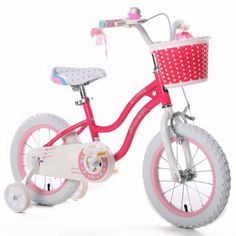 "Amazon.com: Royalbaby Stargirl Girls Bike with Training Wheels and Basket, Best Gifts for Girls. Blue, Red, 12"", 16"" Avaliable: Sports & Out..."