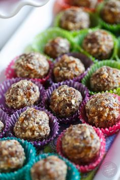 These energy ball bites are naturally sweetened and filled with good-for-you ingredients that will give you that extra boost pre or post workout!
