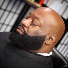 Box Beard styles for Bald bearded man