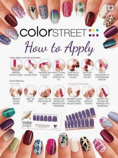Color Street Nail Polish Strips Are So Easy To Apply Look At The Instruction No Special Tools