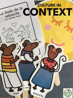 Teach CULTURE in context with our La boda de la ratoncita printable mini book and theme pack in Spanish! Featuring a Mayan legend, this pack gives you the opportunity to bring language and culture together in one theme! Mundo de Pepita, Resources for Teaching Spanish to Children
