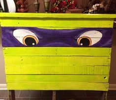 Ninja turtle bed made out of pallets.