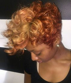 Popular afro hairstyles for woman – My hair and beauty Short Natural Curly Hair, Short Sassy Hair, Short Hair Cuts, Curly Pixie, Dyed Natural Hair, Pixie Cuts, Love Hair, Great Hair, Gorgeous Hair