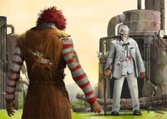 when the clown meets the colonel......... Hide ur wife's and hide ur kids cuz shit is going down