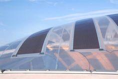 flexible Photovoltaik, Membrankonstruktion (Photomontage Gottlieb-Daimler-Stadion, Stuttgart