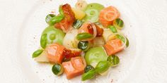 Chef Eric Chavot's recipe for a flavoursome and fresh  salmon dish.
