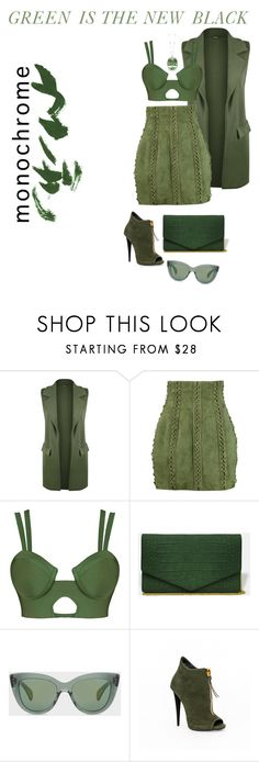 """""""Green is the new black"""" by sandiisamii ❤ liked on Polyvore featuring WearAll, Balmain, Paul Smith and Frederic Sage"""