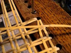 Chair Caning Tip of the Day -- Cane Weaving Direction