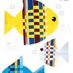 Fish+from+Interwoven+Colored+Paper+Strips
